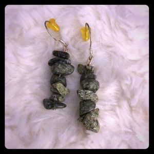 Artisan Crafted Stone Bead Earrings